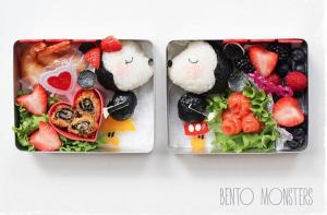 Minnie et mickey façon lunchbox