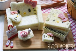 Un salon Hello Kitty à base de pain de mie