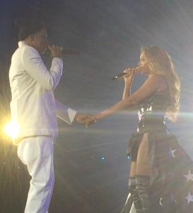 Jay Z et Beyoncé au stade de France