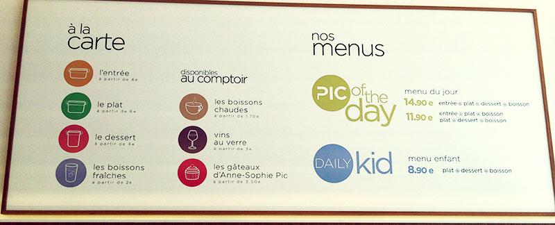 un menu du jour vous est proposé à -15€ ainsi qu'une formule kids à 8€90 pour les plus jeunes