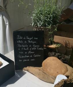 le menu comprenait un plat chaud poisson préparé par Jérome Nutile