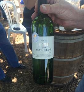 vin blanc coup de coeur de cette balade : la veuve mathilde