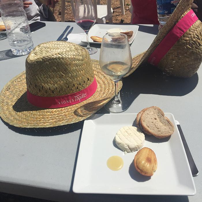 fromage : pélardon des Cévennes et madeleine citron