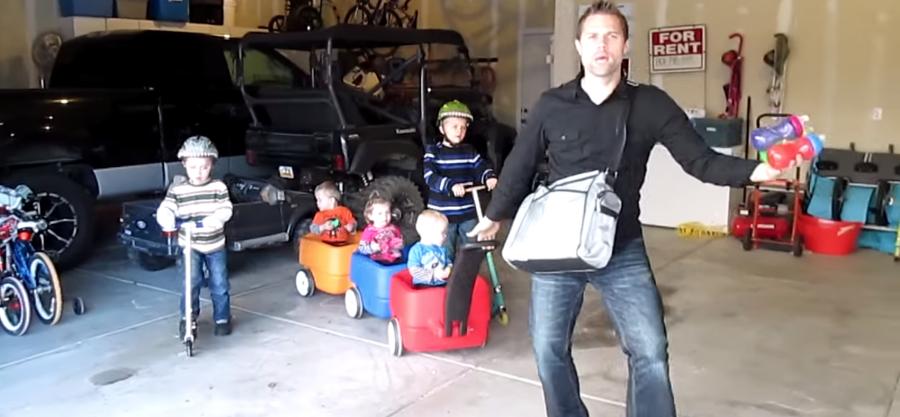 Chad Morton met en scène sa vie de famille dans une vidéo des plus drôle