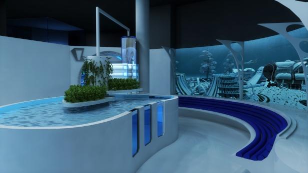 Un bassin à la fois pédagogique et interactif qui embarque un structure d'aquaponie