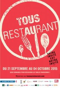 Tous au Restaurant vous donne rendez-vous du 21 septembre au 4 octobre 2015
