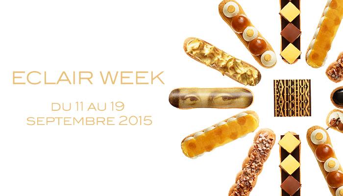 Du 11 au 19 septembre, la maison Fauchon célèbre la pâtisserie française et les revisite sous forme d'éclairs