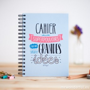 cahier superpouvoirs mr wonderful