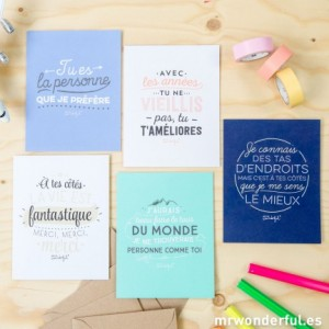 cartes de voeux mr wonderful