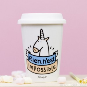 mug take away licorne rien n'est impossible mr wonderful