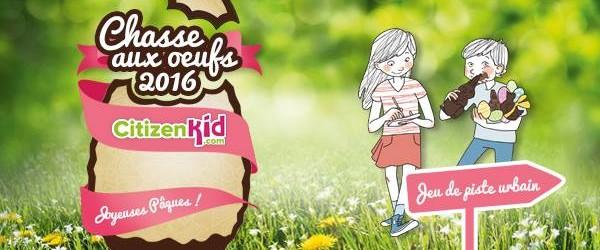 CitizenKid organise une grande chasse aux oeufs dans 12 villes de France pour Pâques