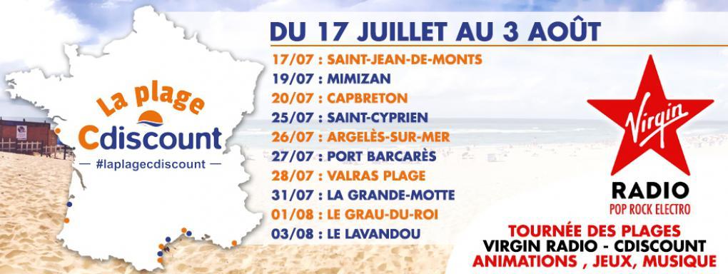 La tournée des plages CDiscount et Virgin Radio passe par la Grande Motte le 31 juillet