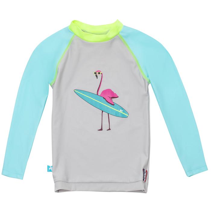 le t-shirt anti uv motif flamingo elly la fripouille