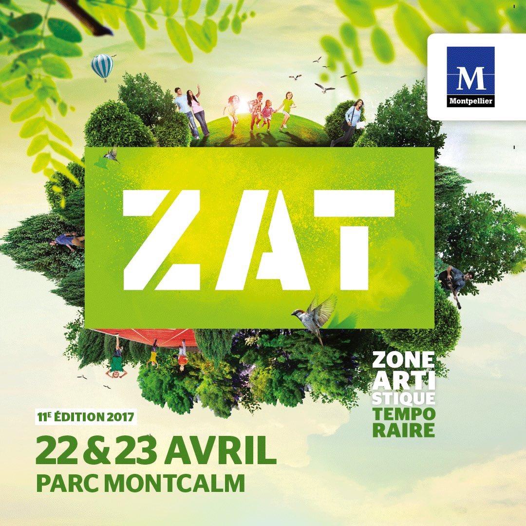 La 11e Zone Artistique Temporaire aura lieu le samedi 22 avril et le dimanche 23 avril 2017 au parc Montcalm à Montpellier.