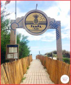 Pampa plage, l'entrée de la plage