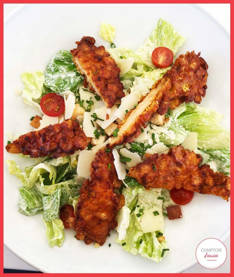 La salade Cesar de la Pampa Plage