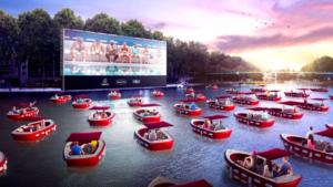 La ville de Paris organise une séance de cinéma insolite, en plein milieu du bassin de la Villette le samedi 18 juillet 2020.