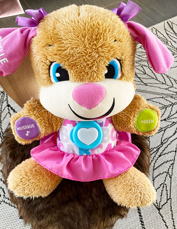 Puppy de Fisher Price une peluche qui parle, chante et apprendra plein de choses à votre bébé