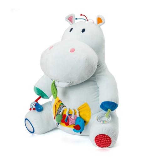 Une peluche qui offre à vos enfants de nombreuses activités d'éveil sensoriel. Axel propose 13 activités